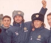 Adani, Almeyda e Zanetti a Mosca 21/10/2003