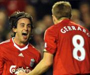 Alberto Aquilani e Steven Gerrard Liverpool 2009 2010