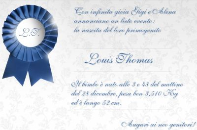 Nascita Luois Thomas Buffon