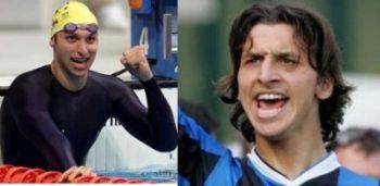 Ian Thorpe e Zlatan Ibrahimovic