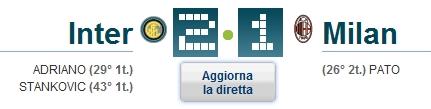 Inter - Milan 2-1
