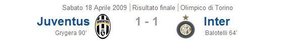 18/04/2009 Juventus - Inter 1-1
