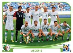 Figurina Panini Algeria Mondiali 2010