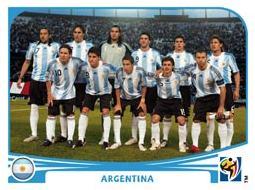 Figurina Panini Argentina Mondiali 2010