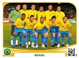Figurina Panini Brasile Mondiali 2010