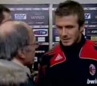 Carlo Pellegatti intervista David Beckham a Controcampo