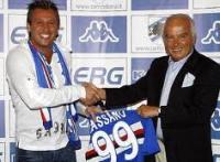 Antonio Cassano e Riccardo Garrone, Sampdoria