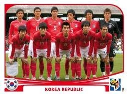 Figurina Panini Corea del Sud Mondiali 2010