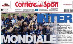 Prima pagina Corriere dello Sport 19/12/2010