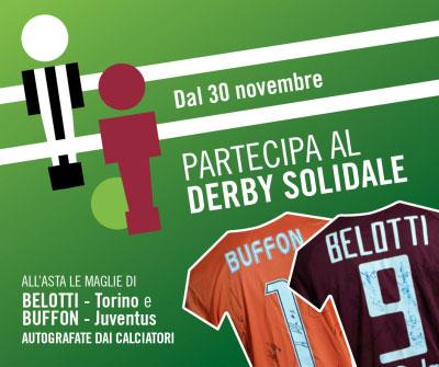derby solidale Torino Juventus asta maglie Belotti Buffon