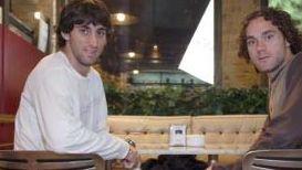 Diego Milito e il fratello Gabriel Milito