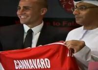 Presentazione Cannavaro Al Ahli, Dubai