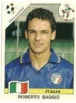 Roberto Baggio: Figurina Panini Italia 90