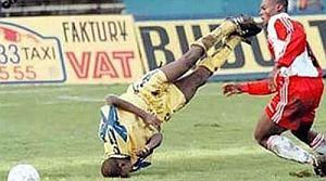 foto divertente calciatore