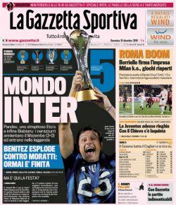 Prima pagina Gazzetta dello Sport 19/12/2010