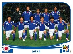 Figurina Panini Japan Mondiali 2010