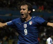 Alberto Gilardino tripletta in Italia-Cipro 3-2 del 14-10-2009
