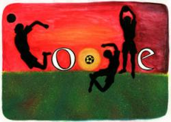 Google Doodle I Love Football