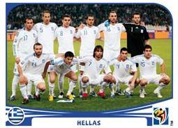 Figurina Panini Grecia Mondiali 2010