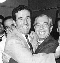 Helenio Herrera con Angelo Moratti