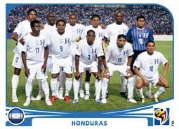 Figurina Panini Honduras Mondiali 2010