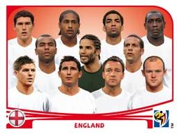 Figurina Panini Inghilterra Mondiali 2010