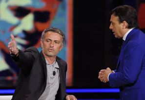 Jose Mourinho al Chiambretti Night