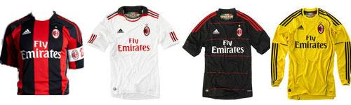 Maglie AC Milan 2010 2011