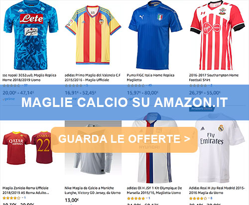 ad8a7ed19f0618 Maglie da Calcio Online: Vendita Magliette Calcio Originali Più ...