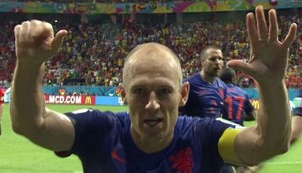 manita Arjen Robben Olanda - Spagna Mondiali 2014