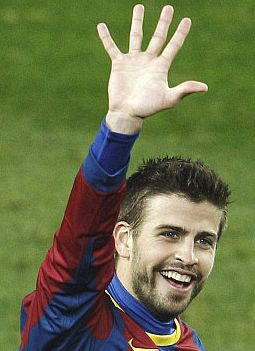 manita Gerard Pique Barcellona - Real Madrid 2010