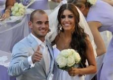 Matrimonio Wesley Sneijder e Yolanthe Cabau van Kasbergen