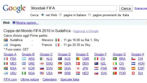 Mondiali FIFA Sudafrica 2010 - Partite e Gruppi