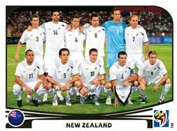 Figurina Panini Nuova Zelanda Mondiali 2010