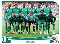 Figurina Panini Nigeria Mondiali 2010