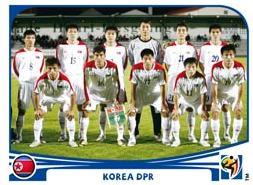 Figurina Panini Corea del Nord Mondiali 2010