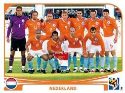 Figurina Panini Olanda Mondiali 2010