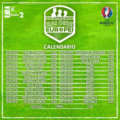 Partite Europei 2016 Gialappa's Band telecronaca radiocronaca
