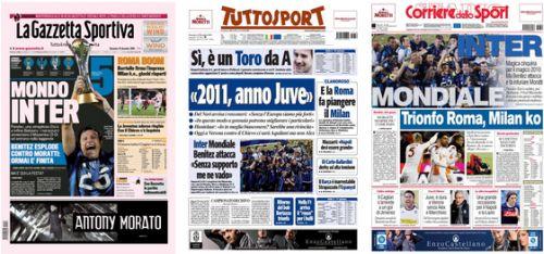 Rassegna Stampa 19/12/2010 giornali sportivi