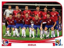 Figurina Panini Serbia Mondiali 2010