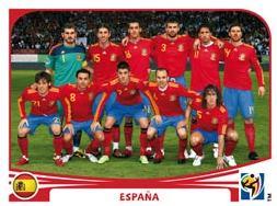 Figurina Panini Spagna Mondiali 2010