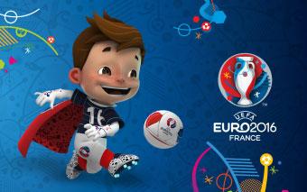Super Victor mascotte Euro 2016 Francia