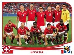 Figurina Panini Svizzera Mondiali 2010