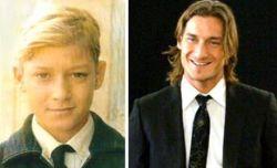 Francesco Totti da piccolo e oggi