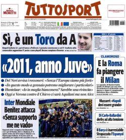 Prima pagina Tutto Sport 19/12/2010
