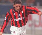 Roberto Baggio maglia Milan