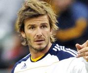 David Beckham capelli lunghi spettinati