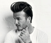David Beckham capelli all'indietro 2014