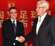 Fabio Cannavaro e Marcello Lippi Cina Guangzhou Evergrande 2014 2015