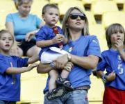 Daniela Cannavaro con i figli ai mondiali di Germania 2006